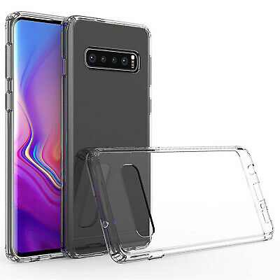 Samsung Transparent TPU Acrylic Glass Curb Case Cell Phone Outdoor Cover Bumper