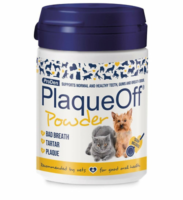 Proden PlaqueOff Dental Care for Dogs and Cats Promotes Healthy Teeth,Gums, 60g