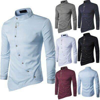 Men's Casual Dress Shirts Long Sleeve Slim Fit Luxury Business Formal Top Blouse
