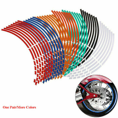 "18"" Strips Motorcycle Car Wheel Tire Stickers Reflective Rim Tape Hot"