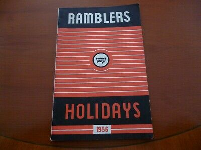 Ramblers Association Party Holidays 1956 Walking Brochure/Booklet *As Pictures*