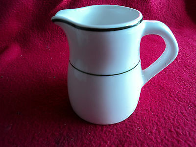 Dudson Lincoln Milk Jug 9oz white dark green bands New Restaurants, Cafe, Hotels