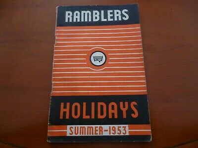 Ramblers Association Party Holidays 1953 (Tatty) Brochure/Booklet *As Pictures*