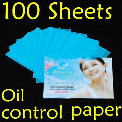 100 Sheets Oil Control Absorption Blotting Facial Paper/TISSUE Skin Care DH