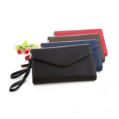PU Leather Travel Bag Purse Wallet Document Organizer Passport Ticket Holder AS