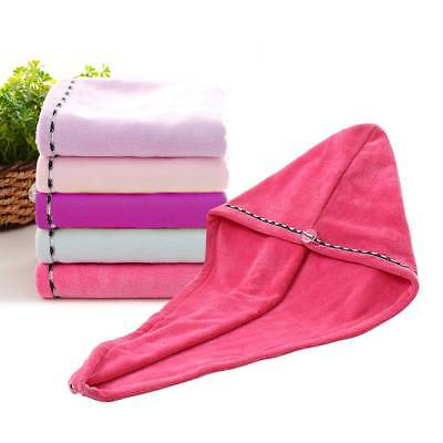 Microfiber Quick Dry Towel Magic Hair Drying Bath Turban Twist Hair Wrap Hat Cap