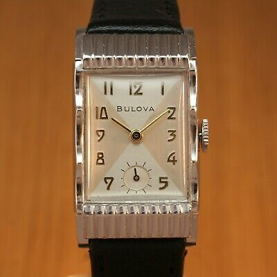 1951 BULOVA ACADEMY AWARD Art Deco Vintage Watch / White Gold Fd / JUST SERVICED