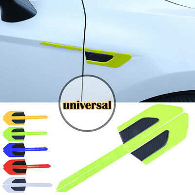 Car Reflector Reflective Warning Strip Fender Sticker Blades Yellow Tape Decor