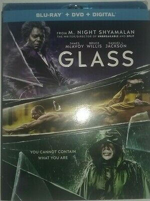 Glass (Blu-Ray/DVD/Digital, 2019) New w/slipcover, Factory sealed