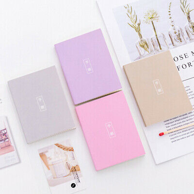 Portable Grid Pages Notebook Mini Diary Journal Schedule Hardcover Stationary