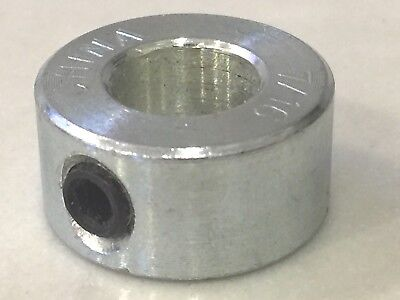 "7/16"" Bore Zinc Plated Steel Shaft Collar With 1/4""-20 Set Screw OD 7/8"""