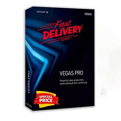 Sony Vegas Pro 16 Windows Video Editing 🔐 Fast Delivery 🔥🔥Lifetime License 🔥