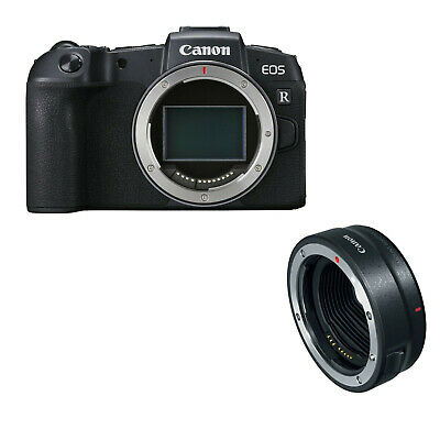 Canon EOS RP Body w/Mount Adapter EF-EOS R & w/FREE EXTRA OEM BATTERY *NEW*