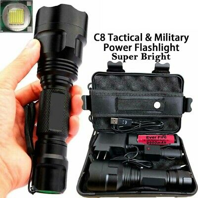 150000LM Tactical Military T6 LED Flashlight Torch Work Light Camp Headlamp Lamp