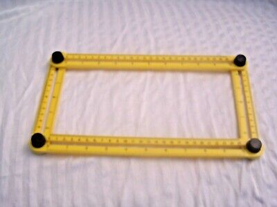 Multifunction Abs Square Ruler Yellow Plastic Measuring Tool NICE