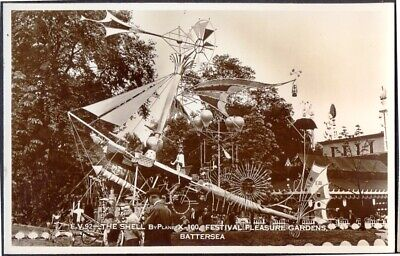 1951 Festival of Britain Vintage RP Postcard: The Shell By-Plane X100, Free Post