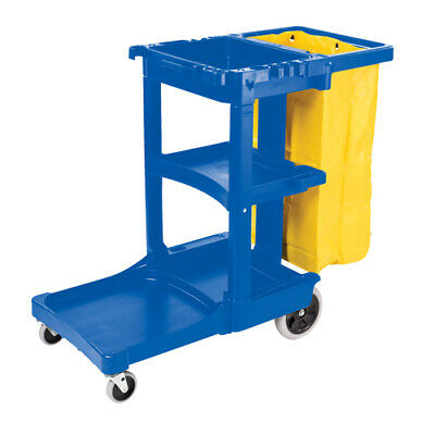 Janitor Cart With Bag - Heavy Duty & High Quality