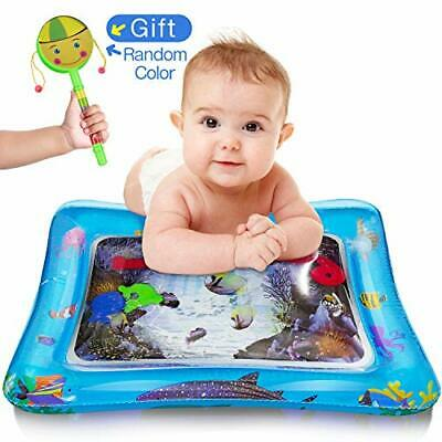 Water Play Mat Baby Inflatable Baby Tummy Time Water Pad Free-BPA Leakproof for