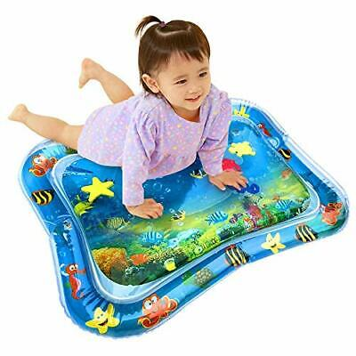 Tummy Time Mat, MOGOI Baby Inflatable Water Play Mat Indoor & Outdoor (A)