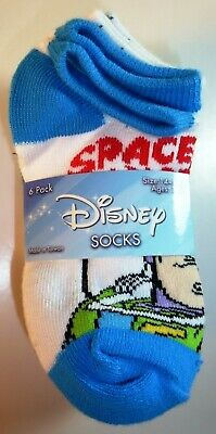 6 Pairs Disney Boys Girls Monsters Toy Story Incredibles Socks Size 6-7.5 L187