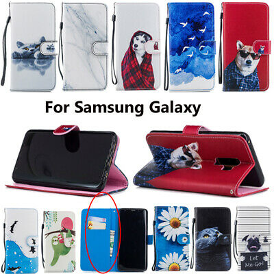 For Samsung Galaxy S8 S9 Plus S7 S6 A8 Flip Leather Wallet Book Phone Case Covr