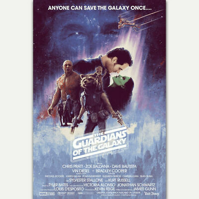 Guardians Of The Star Wars Galaxy Classic Vintage Movie Silk Poster 12x18 24x36