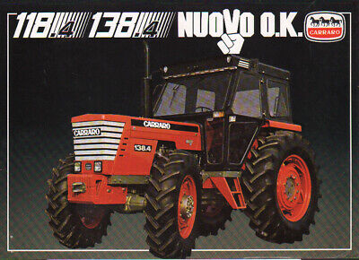 CARRARO 118.4 and 138.4 Tractor Brochure Leaflet