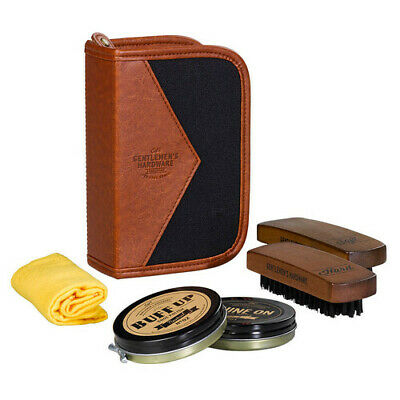 Gentlemen's Hardware Charcoal Shoe Shine Kit FREE Global Shipping