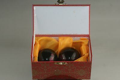 A pairs of natural jade massage health good polish handball