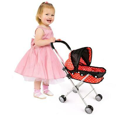 4 Wheeler Kids Baby Child's Doll Toy Pram/Carry Cot/Pushchair/Buggy/Stroller