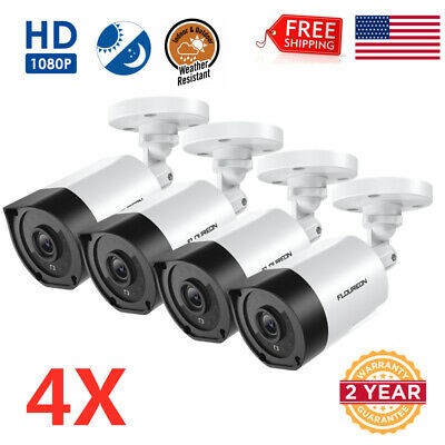 FLOUREON 1080P HD 3000TVL Outdoor CCTV AHD DVR Bullet Security Camera 940nm IR