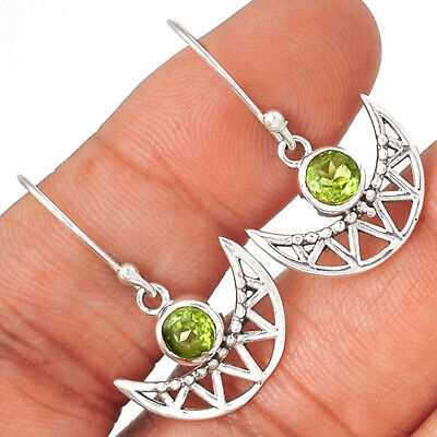 Peridot 925 Sterling Silver Earrings Jewelry Ae56973 68s Fine Earrings