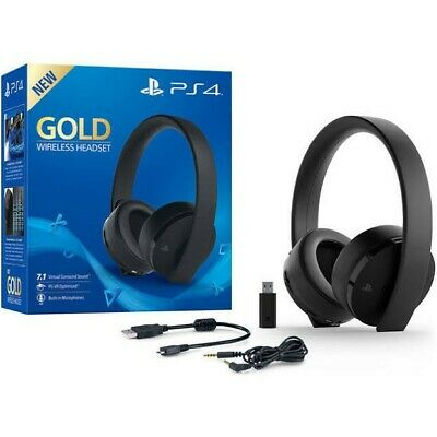 Cuffie Sony Ps4 Gold Wireless Headphones