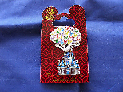 Disney * CASTLE w/ MICKEY EARS BALLOONS * New on Card Trading Pin