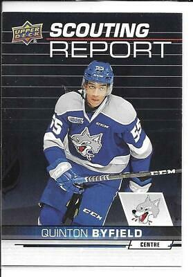 18-19 Upper Deck CHL Scouting Report Quinton Byfield Insert Card #SR-2