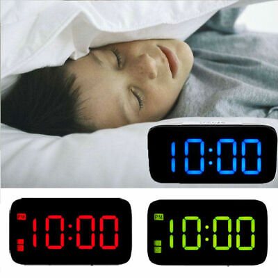 """Large LED Digital Alarm Snooze Clock Voice Control Time Display 5"""" Screen New"""