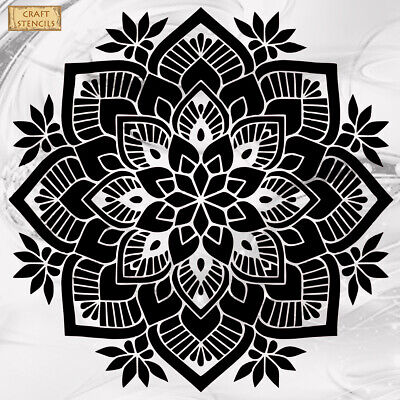 Mandala Ornament Art Craft Reusable Stencil Decor Size A5 4 3 2 1 /237