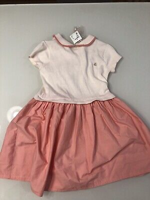 2c1f03e7fbf BONPOINT GIRLS DRESS Pink 100% Linen Size 8 Wedding Flower Girl ...