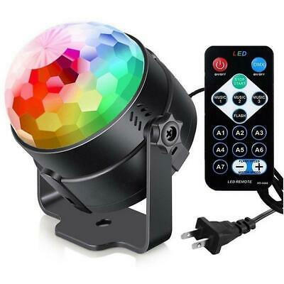 Remote RGB Crystal Rotating Ball Colorful Bar Party Stage Effect Light EH7E 04