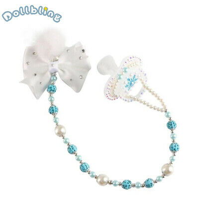 Crystal Diamond Soother Baby Pacifier/Nipples/Dummy with Match Pacifier Clips