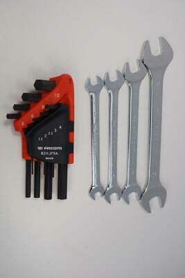 New FACOM France 4pc Open End METRIC  Wrench Set and 9pc  Hex Key Set. Metric.