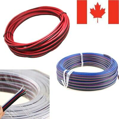 2Pin 4Pin 5Pin Extension Wire Cable Cord for 3528 5050 RGB RGBW LED Strip 5-100M