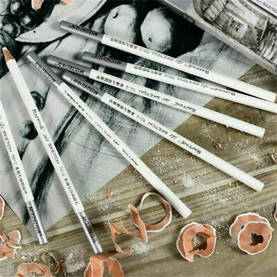 1/4X Professional White Pastel Charcoal Drawing Sketch Craft Pencils For Artist