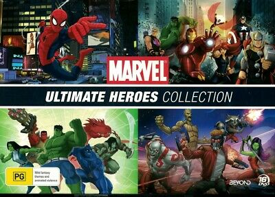 """""""MARVEL - ULTIMATE HEROES COLLECTION"""" DVD, 16 Disc Set - Region [4] BRAND NEW"""