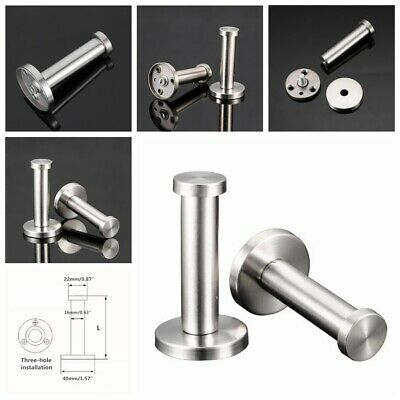 6PCS Stainless Steel Wall-Mount Towel Hook Coat Hanger for Bathroom Lavatory New