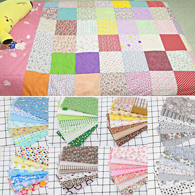 7Pc/Set 25*25cm Cotton Fabric DIY Assorted Squares Pre-Cut Quilt Quarters Bundle