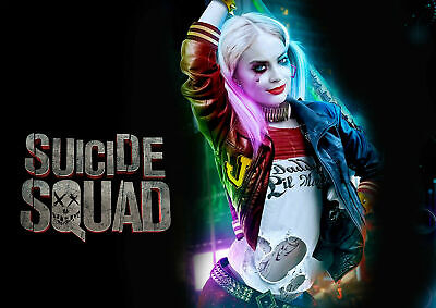 HARLEY QUINN SUICIDE SQUAD Movie Art Silk Poster 12x18 24x36
