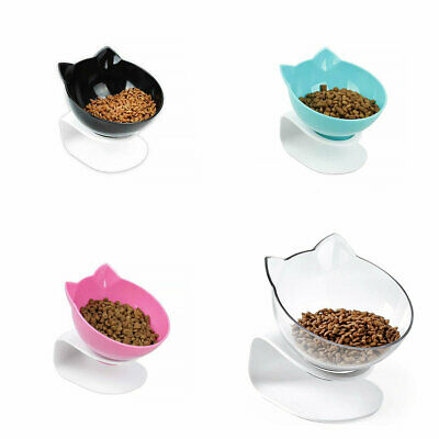 Cat Food Bowl With Stand Elevated Cat Dog Water Bowl Detachable Dish Bowl Tray