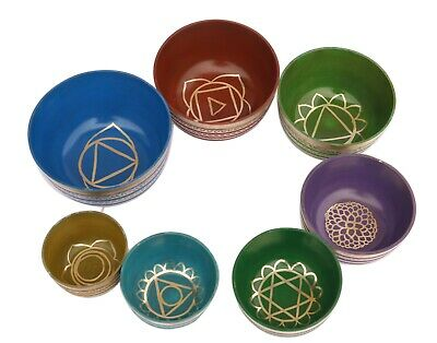 7 Chakra Healing Tibetan Singing Bowl Sets of 7 Sets of Meditation Bowls from Ne