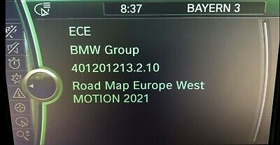 Original BMW Navi Update Europe MOTION 2019-2 Karten inkl. Freischaltcode (FSC)